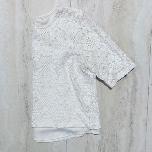 🌿Abercrombie & Fitch White Lace Crop Top